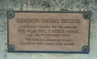 Denison Canal Plaque